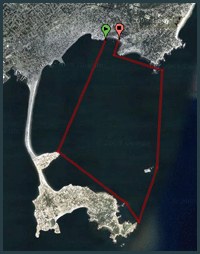 Nahant Bay Race Route