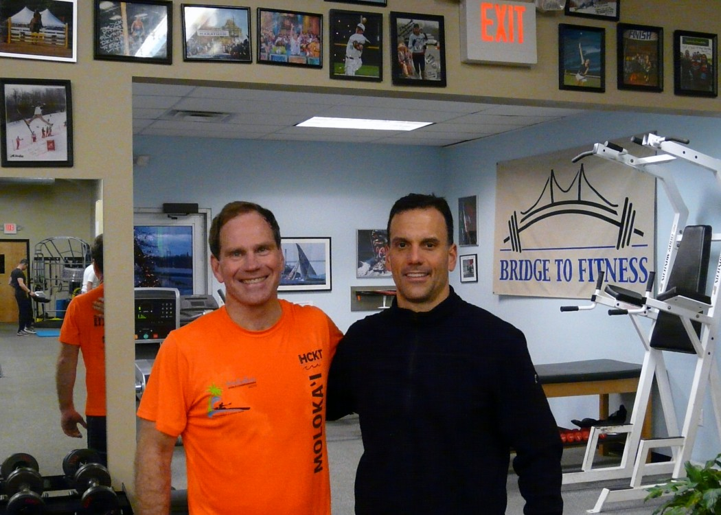 Wesley with Michael Cecchi(owner/trainer of Bridge to Fitness)
