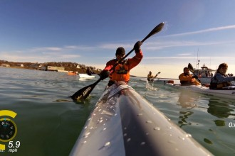 Surf Ski Record Broken at Snow Row 2016